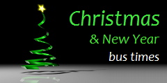 Click here for Christmas and New Year bus times